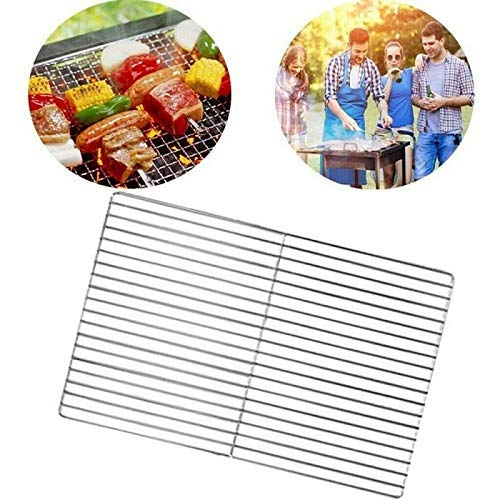 Barbecue BBQ Grill Net Stainless Steel Rack Grid Grate Replacement for Camping for Baking, Wire Rack Oven Safe, Rust-Resistant Rack for Cooking, Baking, Roasting and Grilling