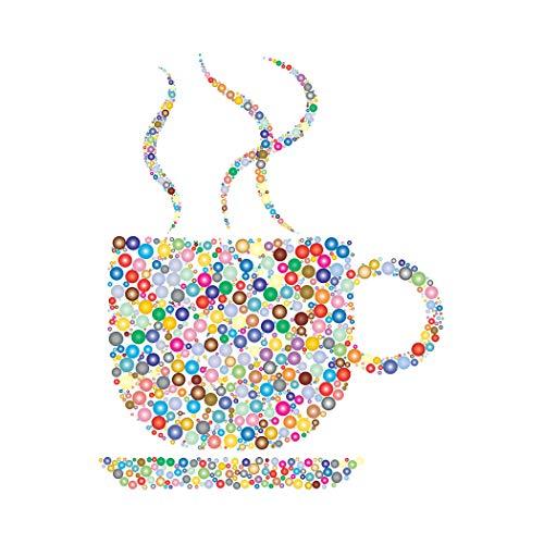SpringFlower Wandaufkleber Kaffee Clipart Dekoration Kunstdruck Dekoration Poster Design Modernes Wandbild Sonderanfertigung Für Wohnzimmer, Klebematerial (D Style)