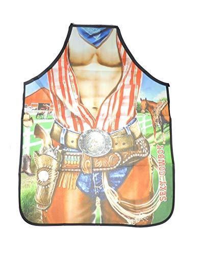Glamour Girlz Kochschürze für Damen und Herren, sexy Cowboy