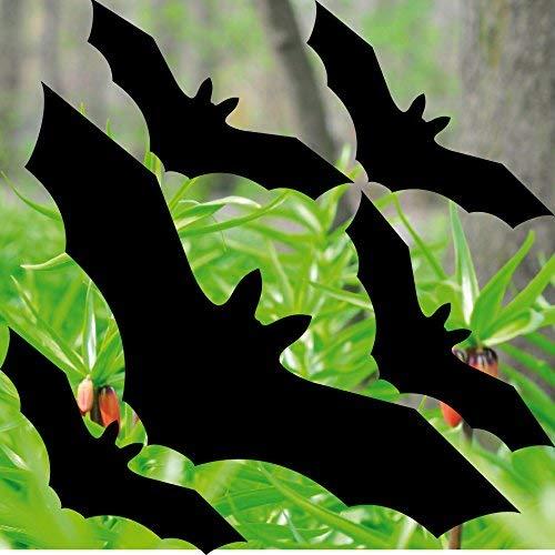 GreenIT Set zwarte vleermuis vogels stickers tattoo tegen vogelslag waarschuwingsvogels venster bescherming deco folie