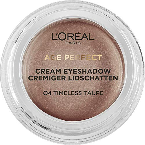 L'Oréal Paris Age Perfect cremiger Lidschatten 04 Timeless Taupe, Bronze, cremige Textur, hohe Deckkraft, 3er Pack(3 x 4 g)