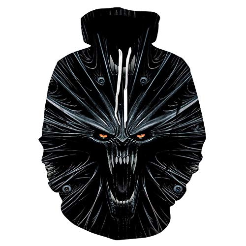 HWJDGWQ Hoodies voor tieners Girlsprinted Coltrui Horror Pocket Coltrui Fashion Trend