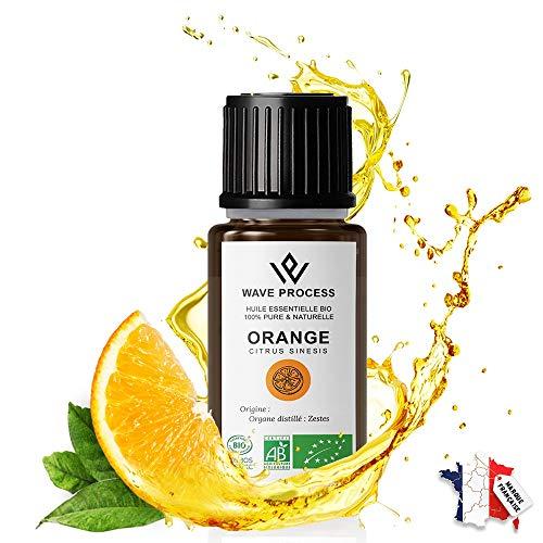 Huile Essentielle d'Orange Douce Bio 10ml Pure et Naturelle certifiée Biologique de Marque Française Avec Fermeture Sécurité Enfant (Orange, 10ml)