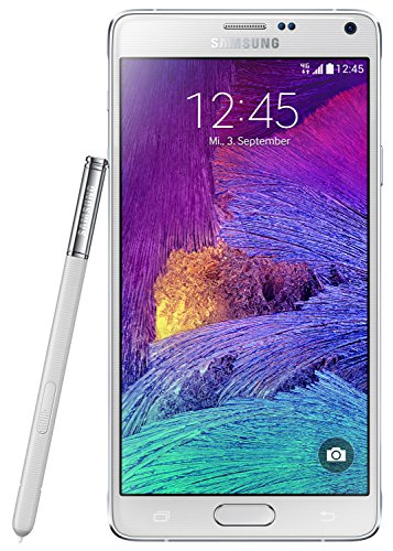 Samsung Galaxy Note 4 SM-N910F - Smartphone (14,48 cm (5.7), 2560 x 1440 Pixeles, SAMOLED, 1,9 GHz, 2,7 GHz, 3072 MB) Color blanco