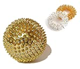 Acupressure Magnetic Ball Massaging for Palm with 2 Sujok Rings for Finger