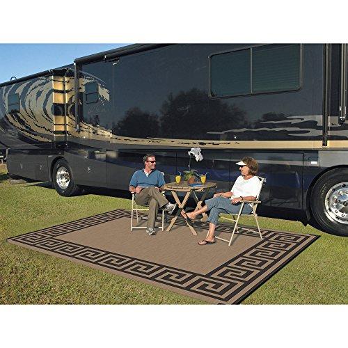 Patio Mats 9' x 12' Reversible RV Patio Mat, Indoor/Outdoor Rug, Camping Mat