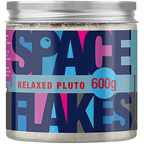 SPACE FLAKES® Relaxed Pluto Body Scrub Salz Körper Peeling für Herren Bio-Jojobaöl Sandelholz Duft ohne Mikroplastik in nachhaltiger rPET Dose