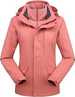 HIOD Outdoor Function Jacket Women Waterproof Raincoat Detachable Softshell Breathable Warm Coat for Autumn Winter