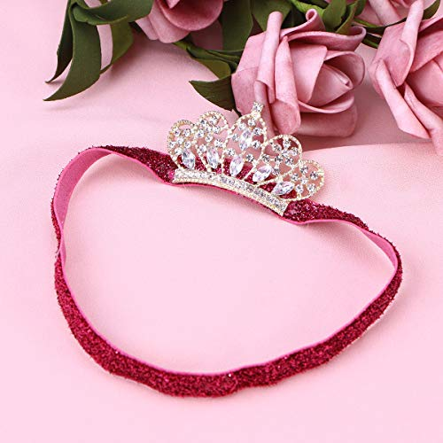 Lurrose 1pcs Baby Girl Crown Water Drill with Photography Princess
