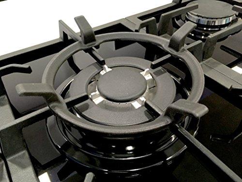 Millar - Soporte para wok de hierro fundido para cocinas de gas, color negro