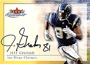 Jeff Graham autographed Football Card (San Diego Chargers) 2000 Fleer Autographics - NFL Autographed Football Cards
