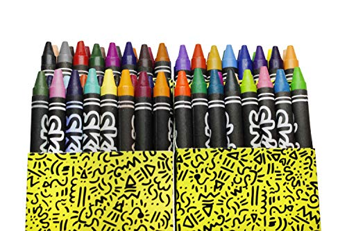 Skoodle Assorted Crayons For Toddlers 64 Count Wax Crayon Set | Non Toxic Crayons, Easy To Hold Large Crayons For Kids, Safe For Babies And Children | Gift For Kids