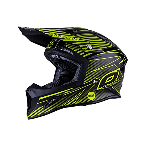 O'NEAL 10 Series MIPS Carbon Motocross Enduro MTB Casco Negro/Amarillo/Plata 2016: Talla:...