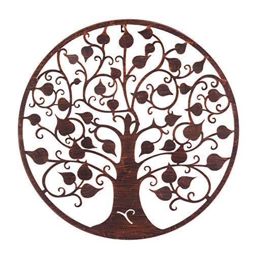 Mural árbol de la Vida exótico en óxido marrón