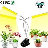 Grow Light for Indoor Plants, 72W 144 LED Plant Light with Auto On & Off Timer, Dimmable Sunlike Full Spectrum Grow Lamp, Tri Head 3 Modes Growing Light for Seedling Succulents Hydroponics Herbs