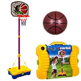 Fineway Portable Adjustable Junior Basketball With Ball & Stand Play Sports Outdoor Set – Free Standing – Comes Everything in a Carry Case – Indoor or Outdoor Garden Beach Party Fun – Perfect Entertainment – Ideal for Xmas Birthday Gift