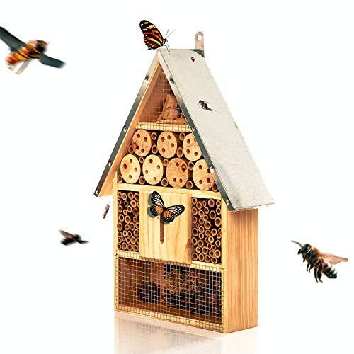 bambuswald© Insektenhotel 39,5 x 23 x 8,6 cm | Bienenhotel Unterschlupf für Insekten - Insektenhaus Naturmaterialien. Gelebter Natur- & Artenschutzfür Zuhause -NistkastenHausNützlingshotel Schutz