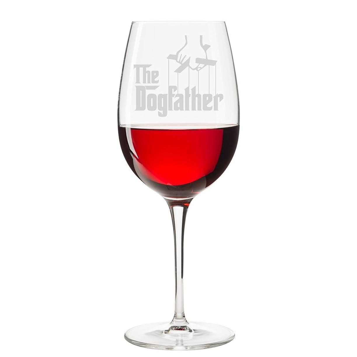電化する戸口観光に行くThe Dogfather 彫刻 18オンス ワイングラス