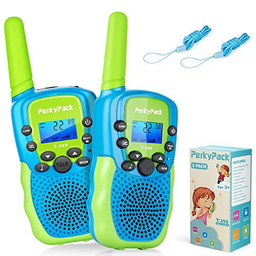 Birthday Gift Kids Toys for 3 4 5 6 7 8 9-12 Year Old Boys Girls Toddlers, Kids Walkie Talkies, Toys for Indoor Outdoor Games, Long Range 3KM 22 Channels 2 Way Radio with Flashlight, 2 Pack