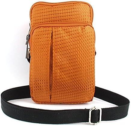 eDealMax COMPROB Vertical Titular del hombro la Bolsa del bolso del teléfono celular de Orange