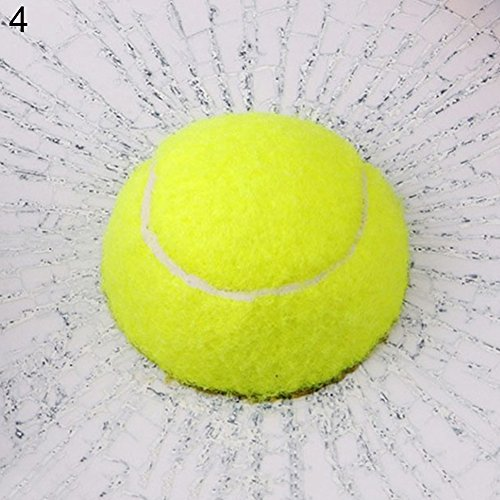 Porfeet Auto Aufkleber, 3D Baseball Fußball Tennis Ball Hits Karosserie Auto Aufkleber Auto Fenster Aufkleber Tennis Ball One Size
