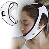 PrimeSiesta: Chin Strap for Snoring - Snore Stopper & Anti Snore Chin Strap for CPAP Users - Breathable, Flexible & Easily Adjustable with Eversoft Technology (Small)