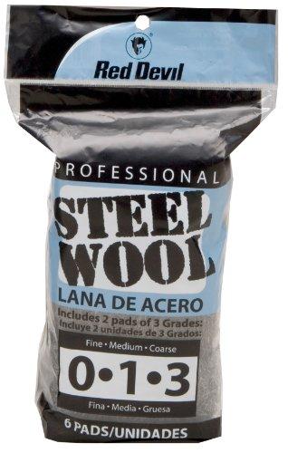 Red Devil 3332 Steel Wool Multi-Grade Pack