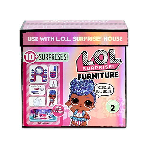 L.O.L. Surprise! 564942E7C Furniture Backstage with Independent Queen & 10+ Surprises, Multi