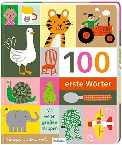 100 erste Wörter: Wörterbuch für Kinder ab 1 Jahr, Pappbilderbuch mit stabilen Seiten und Klappen