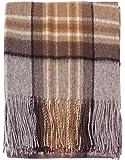 I LUV LTD Highland Scottish Wool Throw Blanket Tartan MacKellar Large Sofa Throw 175cm x 157 cm (69' x 62') Plaid Blanket Outdoor Blanket Picnic Rug Throw Blankets for Couch