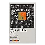 22, A Million – Bon Iver (2016) Leinwand-Poster,