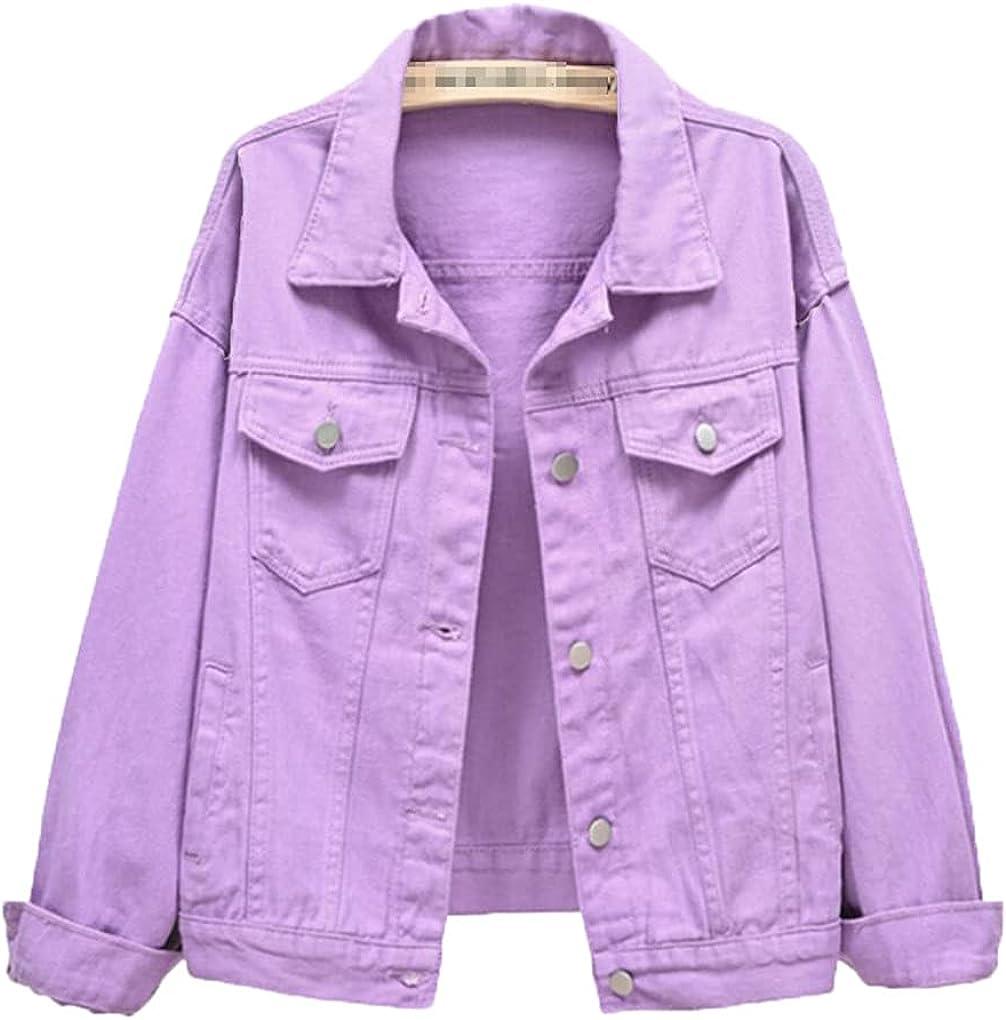 Bangqi Jeans Jacket and Coats for Women Boyfriend Spring Autumn Casual Short Denim Jacket Fashion Outerwear