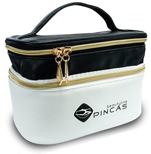 Hochwertige Designer- Kosmetiktasche mit 2 goldenen Verschlüssen für die anspruchsvolle Dame: