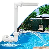 Pool Waterfall Spray Pond Fountain - Water Fun Sprinklers Above In Ground Swimming Pool Decor