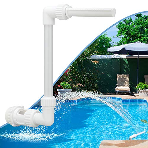 Pool Waterfall Spray Pond Fountain - Water Fun Sprinklers Above In Ground Swimming Pool Decoration, Swimming-Pool Spa Accessories, Adjustable Pool Aerator Cool Warm Water Temperatures Backyard Decor