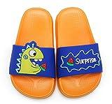 SMajong Zapatos de Ducha para Niños Zapatos de Playa y Piscina Niño Niña Verano Interior Baño Zapatillas para Familia Naranja 26/27 EU