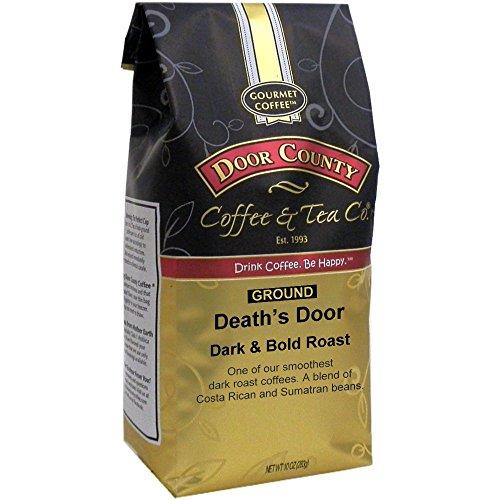 Door County Coffee, Death's Door, Dark Roast, Ground Coffee, 10 oz Bag