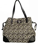 Tommy Hilfiger Women's Tote Handbag, Black Alpaca