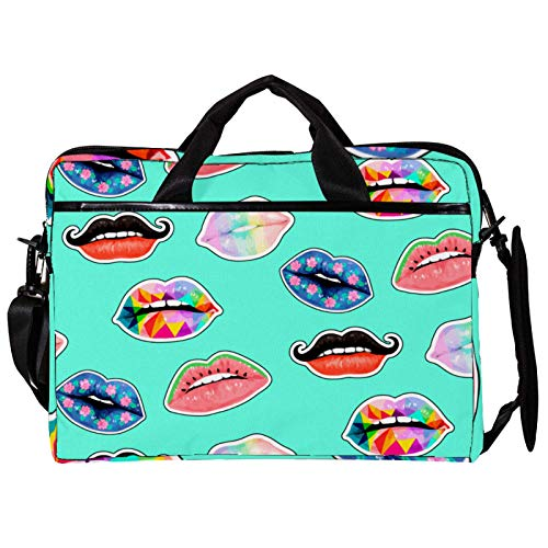 Colorful Lips Laptop Carrying Case Unique Printed Compatible with 13-13.3 inch MacBook Pro, MacBook Air,Notebook Computer 11x14.5x1.2in