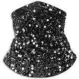 Jxrodekz Dunkelgrauer schwarzer Lady Glitter Nackenschutz, Kopfbedeckung, Gesichts-Sonnenmaske, magischer Schal, Kopftuch, Sturmhaube, Stirnband