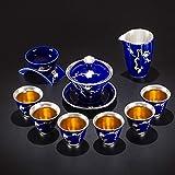 Tetera de plata de ley 999 Kung Fu pura taza de té té té ceremonias cosas hechas a mano café bebedero Teaware Teakettle ZHQHYQHHX (color: 1, tamaño: gratis)
