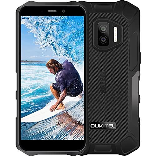 Telefono Móvil Resistente OUKITEL WP12(2021), Android 11 Impermeable Smartphone 4GB+32GB, 5.5' HD+IP68+4000mAh Batería, Doble Cámara 13MP+5MP, Dual SIM, GPS, NFC, Face ID