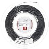 Wilson WRZ906900 Corda da Tennis Revolve, Bobina 200 m, Unisex, Nero, 1.25 mm