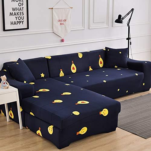 Fundas de sofá elásticas Impresas para Sala de Estar Funda de sofá Esquina en Forma de L Chaise Longue Sillón Sofá Funda A32 4 plazas
