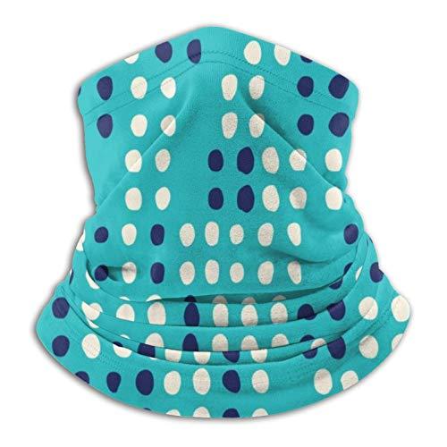 Fondo de color aguamarina Geometría abstracta en la mitad del siglo moderno Bufandas cálidas unisex Pañuelos en la cabeza Sombreros multifuncionales para toallas faciales elásticas Bufandas lavables