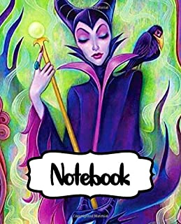 Notebook: Maleficent Powerful Fairy Magical Forest Adventure American Dark Fantasy Kingdom Inexpensive Gift For Boys And Girls, Soft Glossy Cover ... Notes, Writing Workbook for Teens & Children.