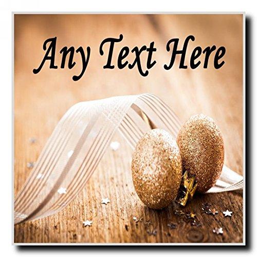 Gouden Glitter Bal Kerstmis Gepersonaliseerde Dranken Mat Coaster
