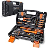 TACKLIFE kit de Outils, Boîte à outil, Mallette de Outil, 56 Pcs d'Accessoires avec Coffret de Rangement, Appliqué à la Maison, à l'Extérieur, à l'Installation et à la Maintenance des Voitures - HHK3B