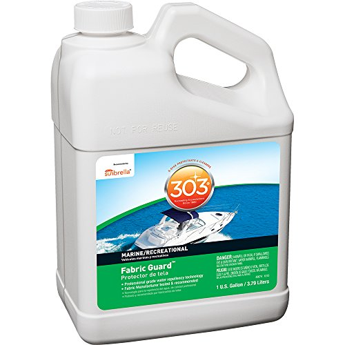 303 (30674-4PK) Marine Fabric Guard - For Marine Fabrics - Restores Lost Water Repellency To Factory New Levels - Repels Moisture And Stains, 1 Gallon, 4 Pack