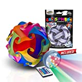 GEOSPHERE 9 Inch - 30 pc Rainbow Colors Puzzle Lamp Kit Complete with Wireless Smart Color Changing LED Light